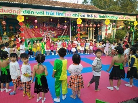 Ngày hội xuân ở Trường Mẫu giáo Bình Minh.ảnh: C.N