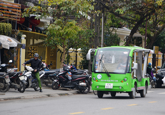 Electric bus in Hoi An city