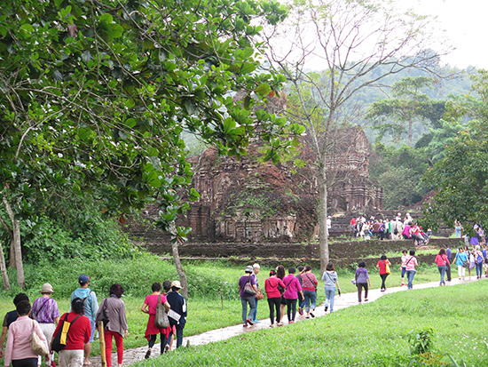 Visitors to My Son Sanctuary sharply increased. Photo: hoian.gov.vn