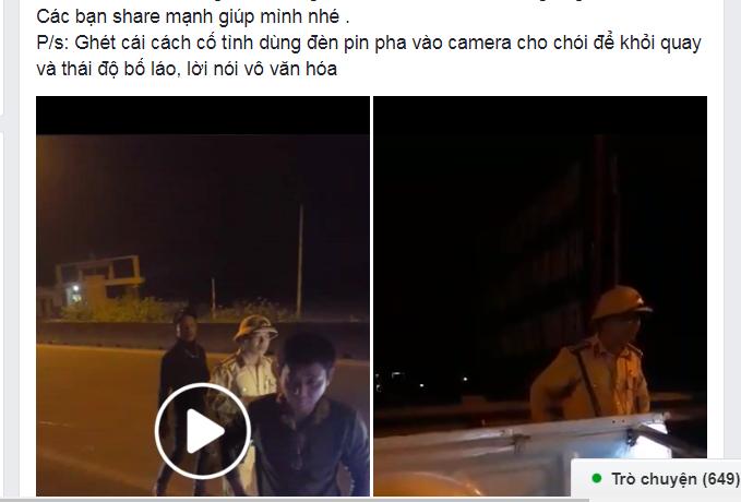 Hình ảnh về hai đoạn video clip được đăng tải trên mạng xã hội. Ảnh chụp màn hình.