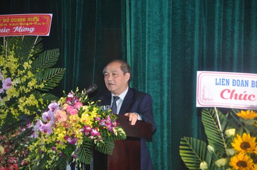 Tổng cục trưởng Tổng cục TD-TT Vương Bích Thắng phát biểu tại lễ mừng công. Ảnh: T.Vy