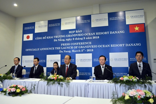 Họp báo công bố khai trương khu nghỉ dưỡng Grandvrio Ocean Danang