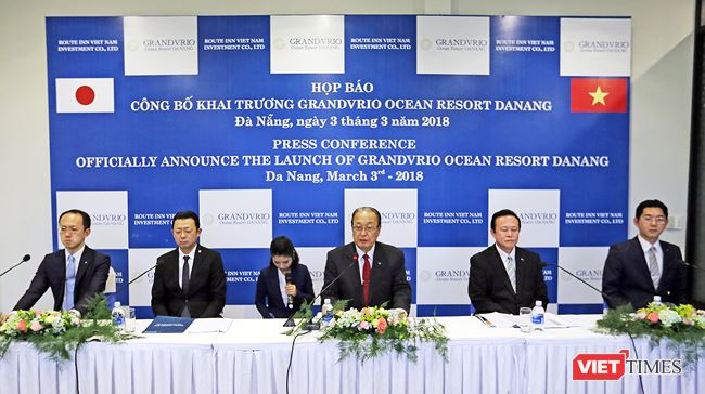 Press conference on the launch of Grandvrio Ocean Resort Danang