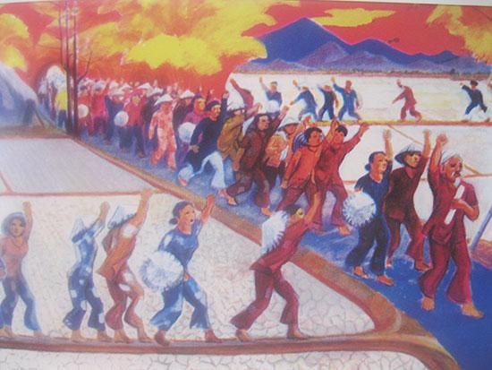 Ký họa phong trào kháng thuế ở Đại Lộc.