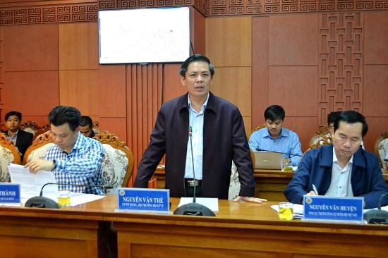 Bộ trưởng Nguyễn Văn Thể đồng ý với nhiều kiến nghị của Quảng Nam. Ảnh: CT