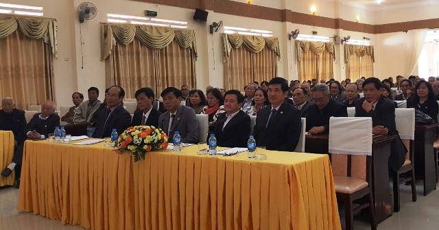 Rất đông đại biểu, người con xa quê Quảng Nam, Đà Nẵng đang sinh sống, làm việc tại Lâm Đồng đến dự buổi gặp mặt đầu năm. Ảnh: TRIÊU NHAN