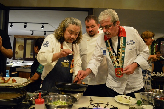 Chefs at the exchange event