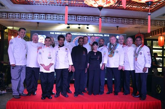 Famous chefs at the 3rd Hoi An International Food Festival 2018.