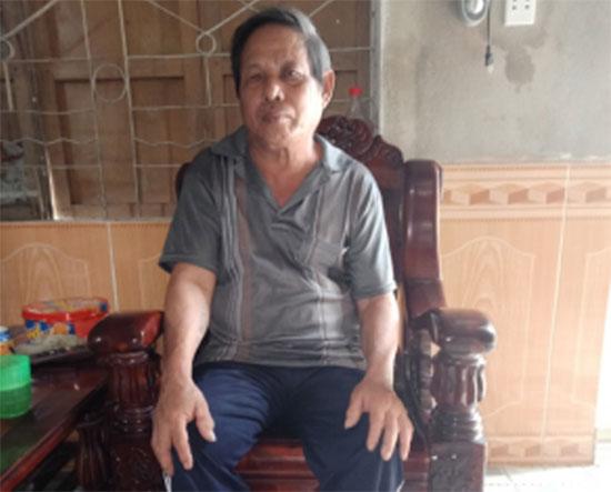 Thương binh Nguyễn Văn Tỏi.Ảnh: HỮU DŨNG