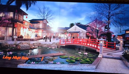 Phối cảnh Làng Nhật Bản  tại Công viên văn hóa Ấn tượng Hội An