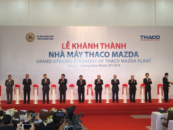 The opening ceremony of THACO Mazda plant