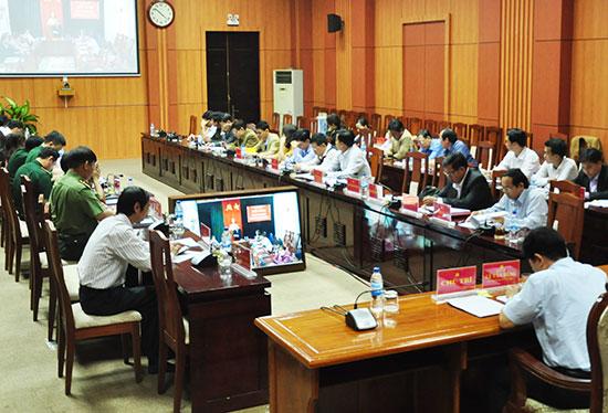 Ban Tổ chức Tỉnh ủy tổ chức hội nghị trực tuyến với các địa phương về công tác tổ chức đảng - đảng viên và công tác cán bộ.