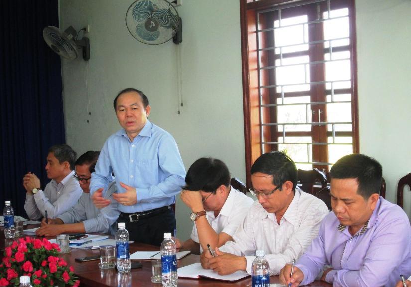 Ông Nguyễn Ngọc Bảo – Chủ tịch Liên minh Hợp tác xã Việt Nam phát biểu chỉ đạo tại cuộc làm việc.  Ảnh: VĂN SỰ