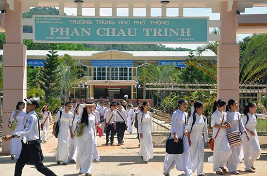 Chỉ tiêu tuyển sinh của các trường THPT miền núi giảm xuống 15% giúp các trường nâng cao chất lượng. Ảnh: X.PHÚ