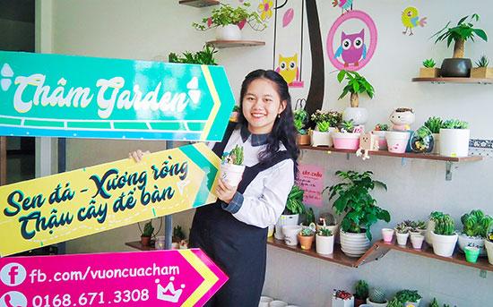 """Nguyễn Mai Thảo Trâm với """"Châm garden"""". Ảnh: NVCC"""