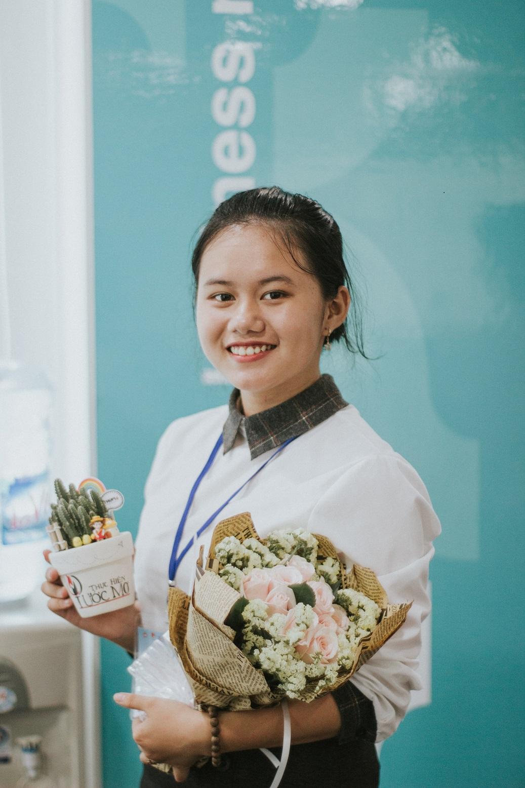 Nguyễn Mai Thảo Trâm trong vòng bán kết. Ảnh: NVCC.