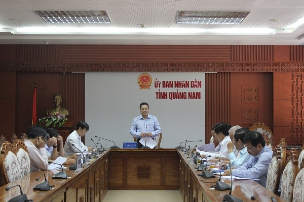The meeting to announce the time to organize this event by Quang Nam People's Committee. Photo: quangnam.gov.vn