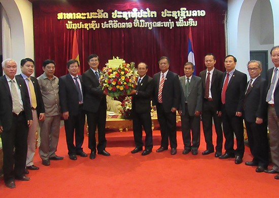 Secretary Quang in Luang Prabang province