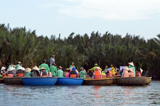 Tourists in Cam Thanh commune, Quang Nam province.