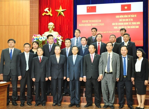 The Zhuang delegation and Quang Nam leaders