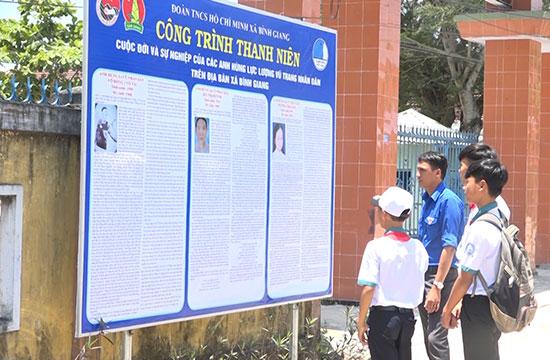 Công trình thanh niên của Đoàn xã Bình Giang bước đầu tạo được hiệu ứng tích cực. Ảnh: T.S