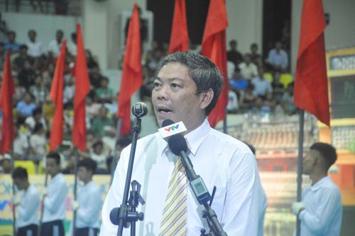 Giám đốc Trung tâm truyền hình Việt Nam tại TP.Hồ Chí Minh Lâm Văn Tư phát biểu khai mạc giải. Ảnh: T.V