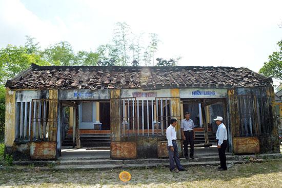 Việc công nhận xếp hạng di tích nhà thờ Tiền hiền làng Hiền Lương sẽ tạo điều kiện cho việc huy động nguồn lực để trùng tu di tích này. Ảnh: V.L