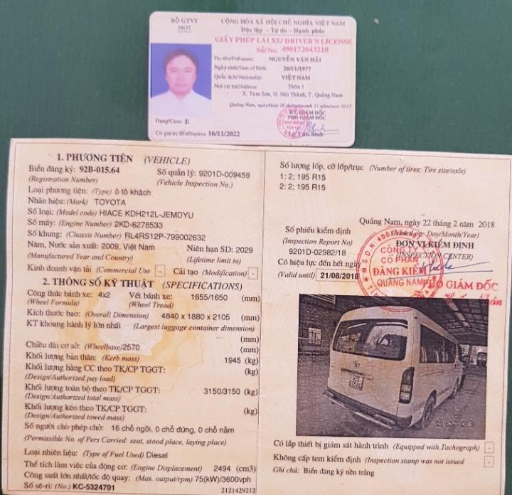 giấy phép lái xe giả do tài xế Hải sử dụng để điều khiển phương tiện. Ảnh: CSGT cung cấp