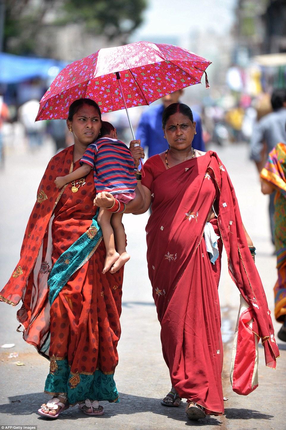 Nắng nóng kinh hoàng đang diễn ra tại nhiều bang ở Ân Độ. Ảnh: AFP