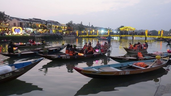 Hoai river in Hoi An city, Quang Nam province