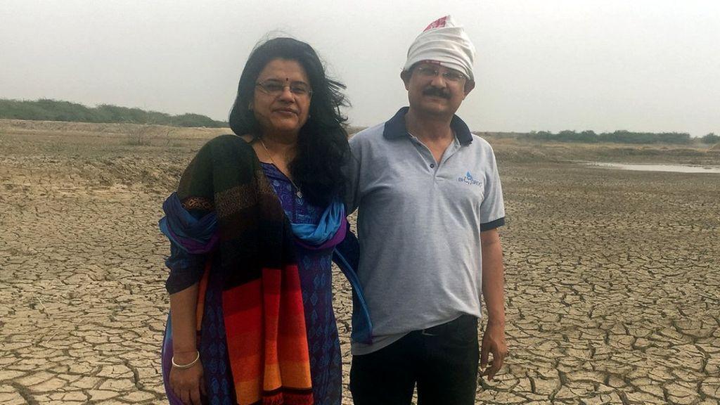 Biplab Khetan Paul (phải) và Trupti Jain- đồng sáng lập Naireeta Services. Ảnh: BBCnews