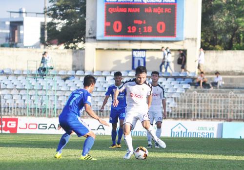 Quang Hải ghi bàn thắng duy nhất của trận đấu. Ảnh: T.V