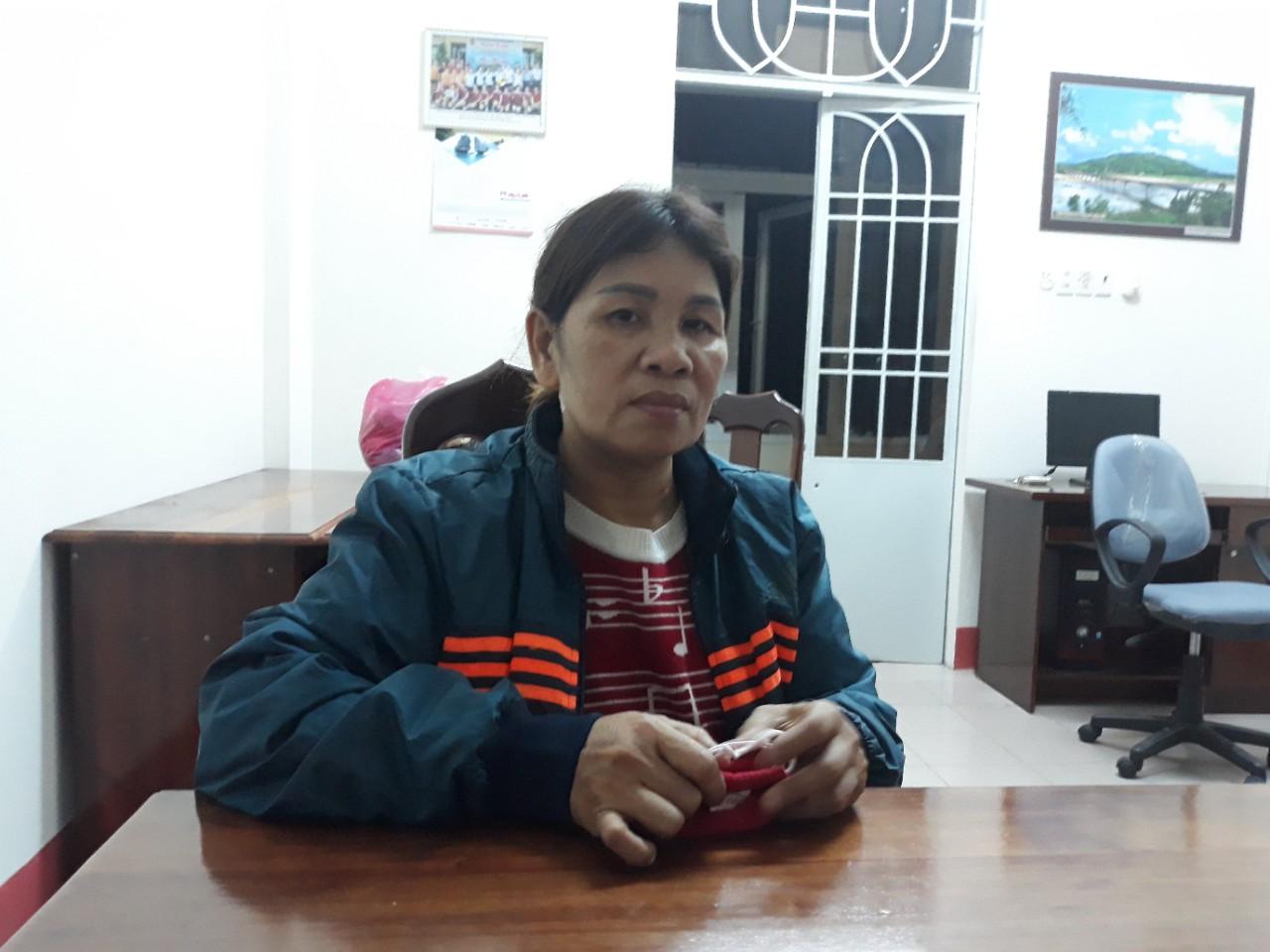 Đối tượng Nguyễn Thị Tươi bị bắt sau hơn 2 tháng bỏ trốn. Ảnh: P.NAM