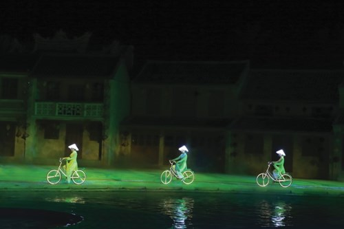 The girls ride bikes to the future on the time route.