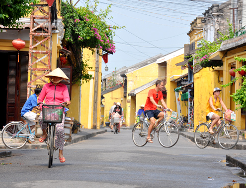 Bikes- the means of transport in Hoi An ancient quarter.