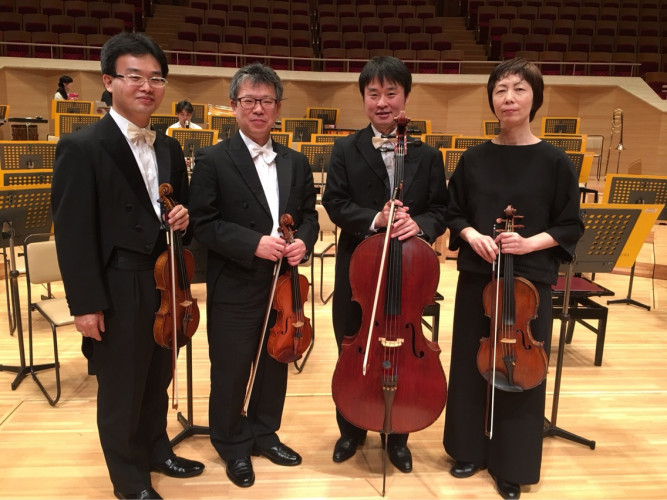4 Japanese string instrumentalists of the Japan Philharmonic Orchestra