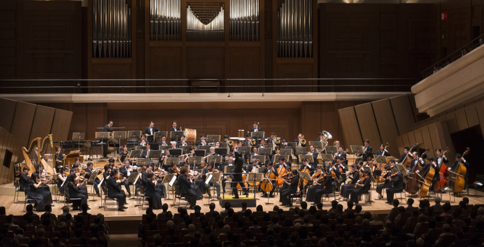 A Japan Philharmonic Orchestra's performance in Japan