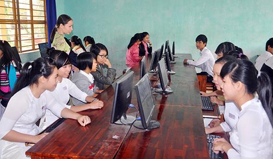 Nhiều đổi mới trong tuyển sinh, kiểm tra đã góp phần nâng cao chất lượng dạy và học. Ảnh: XUÂN PHÚ