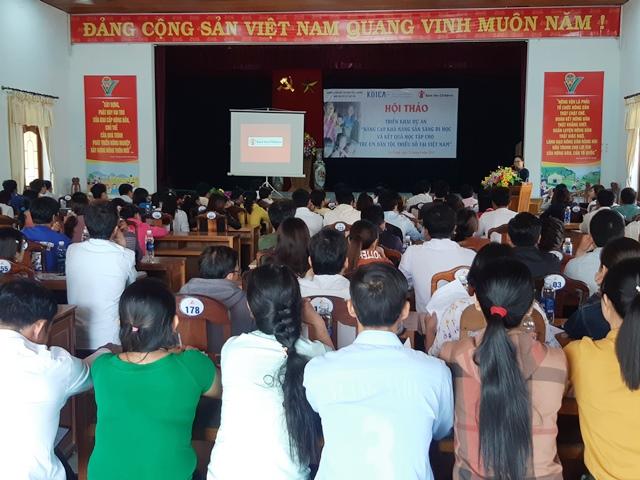 Hội thảo khởi động dự án thu hút đông đảo giáo viên, phụ huynh hưởng ứng. H.L