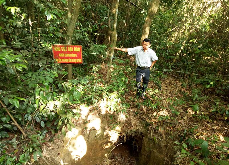 Một miệng hầm địa đạo Ngọc Sơn. Ảnh: THẮNG QUÂN