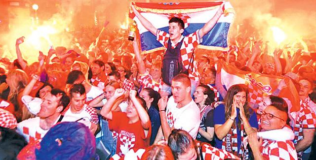 Các cổ động viên Croatia - Ảnh: DAILY NEWS