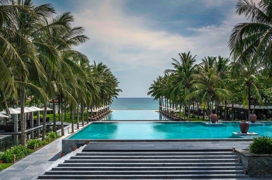 One of great pools in Four Seasons Hotel The Nam Hai