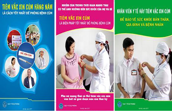 Tiêm vắc xin phòng bệnh cúm mùa cũng là giải pháp hạn chế bệnh sốt cấp tính chưa rõ nguyên nhân. Ảnh: Internet