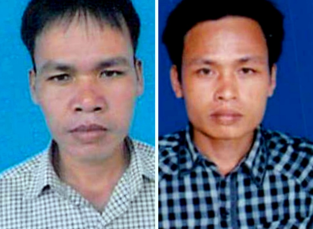 Hai đối tượng Võ Quốc và Võ Quốc Việt. Ảnh: Cơ quan chức năng cung cấp