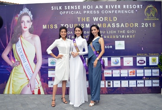 Contestants at the press conference on the World Miss Tourism Ambassador 2018