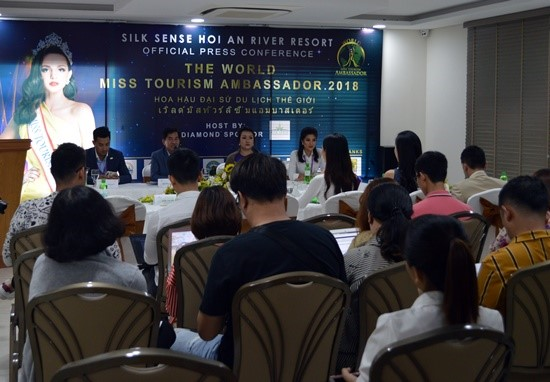 The press conference on the World Miss Tourism Ambassador 2018