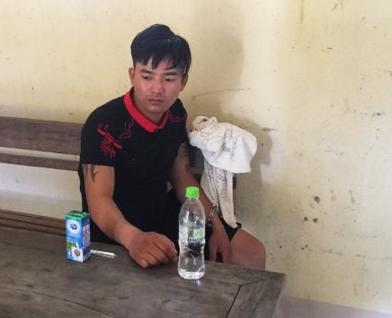 Đối tượng Cao Thái Linh tại cơ quan Cảnh sát điều tra. Ảnh: L.T