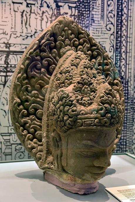 Đầu thần Shiva phát hiện tại di tích Phật viện Đồng Dương.