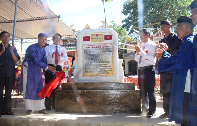 Đình làng Phúc Khương được xếp hạng di tích lịch sử - văn hóa cấp tỉnh năm 2018. H.LIÊN