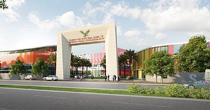 The gate of the International Education City in 3D perspective (VOV)